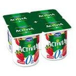 Danone Activia Strawberry yogurts 0% FAT 4x125g