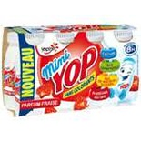 Yoplait Yop mini strawberry 8x100g