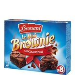 Brossard Mini chocolate chip Brownies x 8 240g