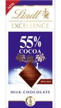 Lindt Excellence Milk 55% Cocoa 80g