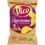 Vico crisps old style Vinegar & shallots 125g