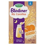 Bledina Blediner Rice & Carrots 4 to 36 months 210g