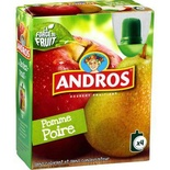 Andros P'tit Dros Apple & Pear pouches 4x90g