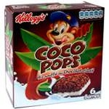 Kellogg's Coco Pops crispy rice chocolate bars x 6 120g