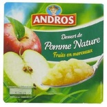 Andros Plain apple with bits 4x100g