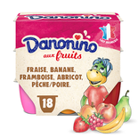 Danone Gervais fruits Danonino variety cottage cheese 18x50g
