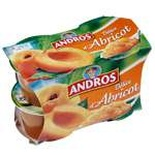Andros Delice of Apricot dessert 4x100g