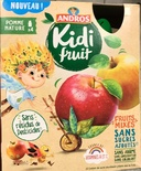 Andros Kidi Fruit Plain Apple pouches 4x85g