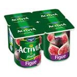 Danone Activia Fruits figs yogurts 4x125g