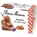 Bonne Maman Milk Chocolate Mousse 4x10cl