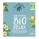 Elephant infusion Organic Tilleul Camomille x 25 sachets 26g