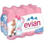 Evian Natural mineral still water 12x33cl