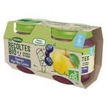 Bledina Organic Apple, Blueberry & Blackcurrant 2x130g From 6 Months