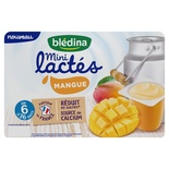 Bledina Mini Lactes Mango yogurts 6x55g from 6 months