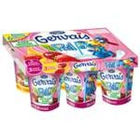 Danone Gervais straw Red fruits, banana, strawberry 6x90g