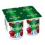Danone Activia Cherry yogurts 0% FAT 4x125g