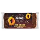 Biona Organic Wholemeal Rye Bread with Sunflower seeds 500g
