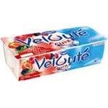 Danone Veloute Red fruits, Strawberry, Raspberry yogurts 8x125g