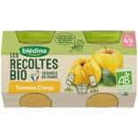 Bledina Organic Apple Quince 2x130g from 4 months
