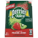 Perrier Strawberry & Kiwi sparkling water 4x25cl