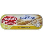 Saupiquet Mackerel filets in mustard sauce 169g
