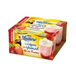 La Laitiere Strawberry yogurts Liegois 4x100g