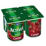 Danone Activia Fruits Cherries yogurts 4x125g