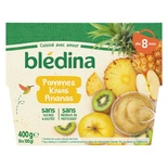 Bledina Apple, Kiwi & Pineapple Compote From 8 Months 4x100g