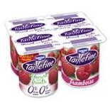 Danone Taillefine Raspberry yogurts 0% FAT 4x125g