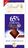 Lindt Excellence Milk 65% Cocoa 80g
