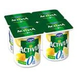 Danone Activia Lemon yogurts 0% FAT 4x125g