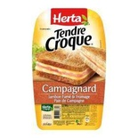 Herta Croque Monsieur Campagnard Smoked ham & cheese x2 200g
