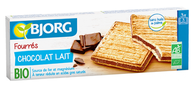 Bjorg Milk Chocolate filled biscuits ORGANIC 225g