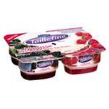 Danone Taillefine Cottage cheese mousse Raspberry & Blackberry 4x115g
