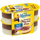La Laitiere White & Milk chocolate mousse 4x12cl