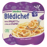 Bledina Bledichef Spaghetti & Vegetable creme 2x230g from 12 months