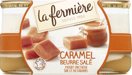 La Fermiere Salted butter & Caramel brewed yoghurts 2X160G