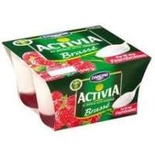 Danone Activia brewed on raspberries 4x125g