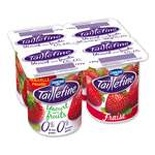 Danone Taillefine Strawberry yogurt 0% FAT 4x125g