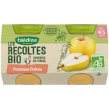 Bledina Organic Apple & Pears 2x130g from 4 months
