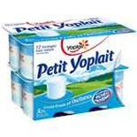 Yoplait Little plain yoplait yogurts 3.8% FAT 12x60g