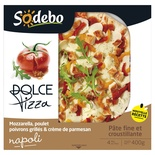 Sodebo Pizza Dolce Napoli Chicken, mozzarella, peppers & Parmigiano Cream 400g