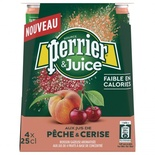 Perrier Peach & Cherry sparkling water 4x25cl