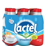 Lactel UHT whole milk 6x1L