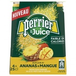Perrier Pineapple & Mango sparkling water 4x25cl