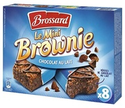 Brossard Mini Milk chocolate brownies x8 240g