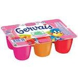 Danone Gervais cottage cheese strawberry, raspberry , apricot 6x50g