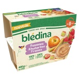 Bledina Compote Apple, Srawberry & Rhubarb 4x100g From 8 Months