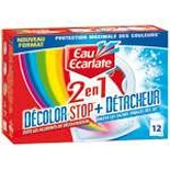 Eau Ecarlate 2in1 Decolor Stop Wipes Anti-Decolouration & Stain remover x12