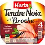 Herta Tendre Noix skewer cooked ham 4 slices 160g